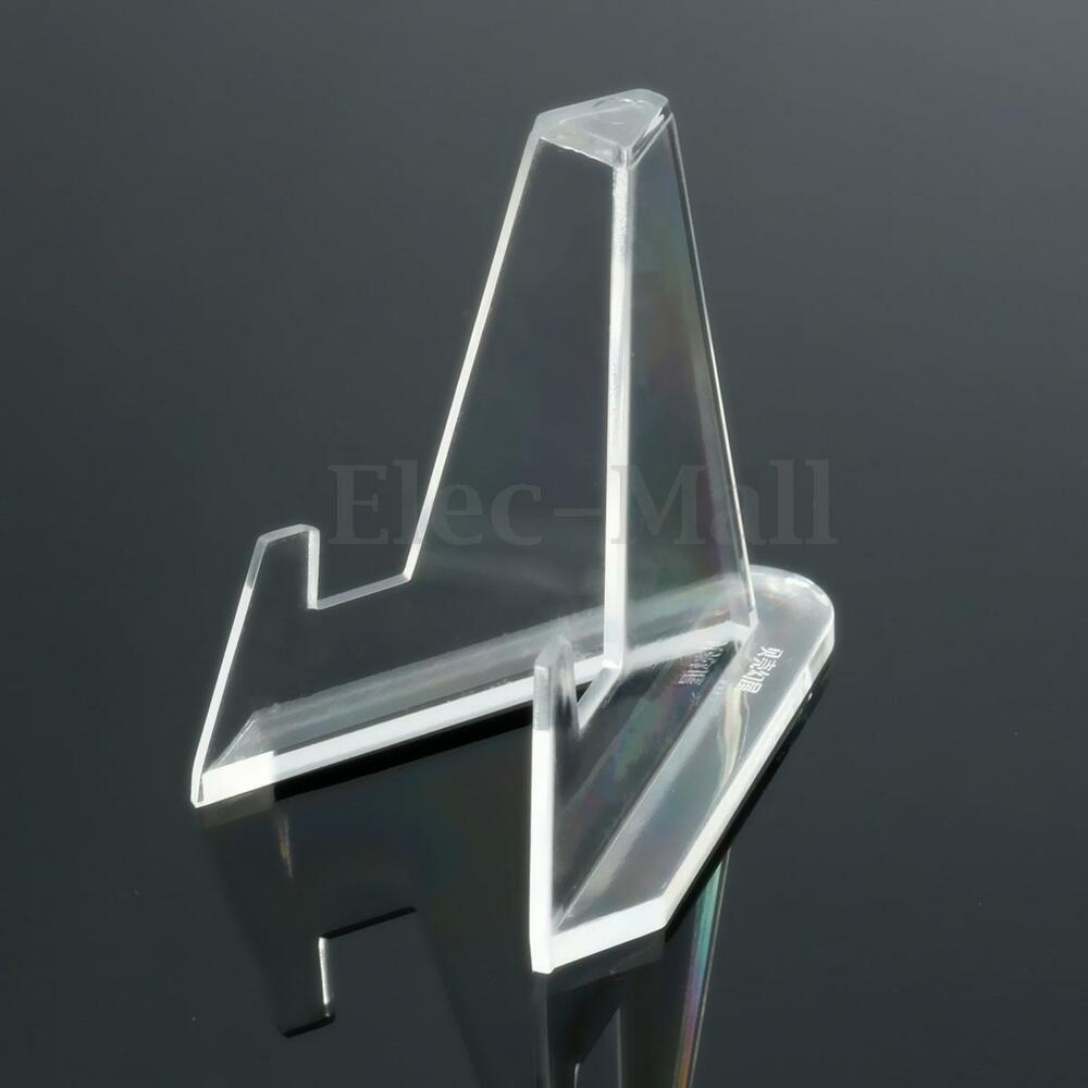 10pcs Clear Acrylic Medals Coins Display Stand Easel Show Holder Exhibit Mount 979951048204 Ebay