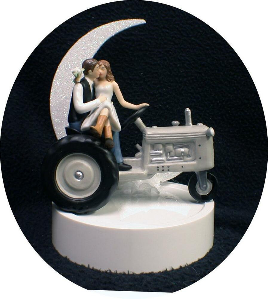Country Western Tractor Wedding Cake Topper Farmer Barn
