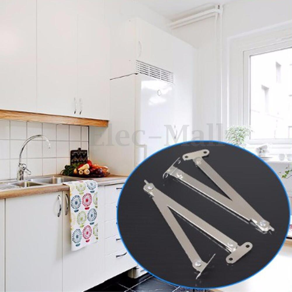 Kitchen Cabinet Doors Don T Line Up: 2Pcs Cabinet Cupboard Furniture Doors Close Lift Up Stay