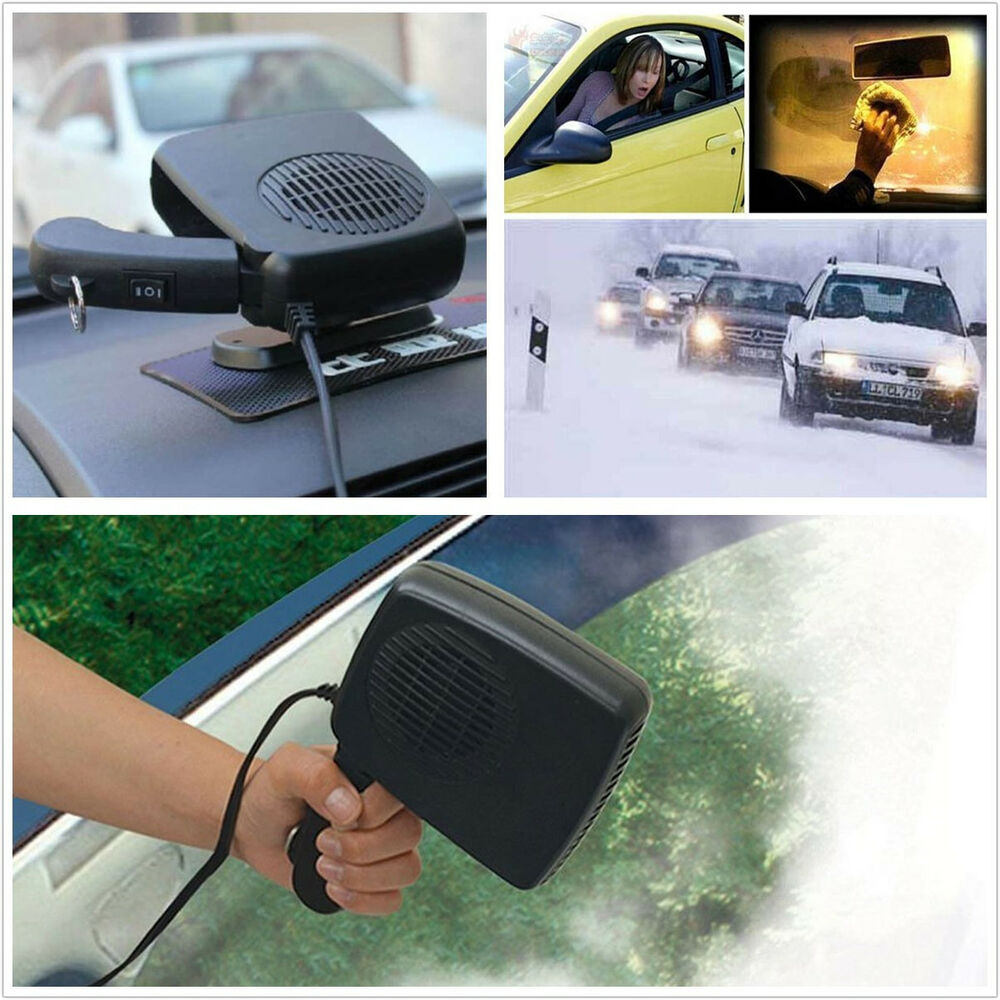 2in1 car portable ceramic heating cooling dry heater fan defroster demister 12v ebay