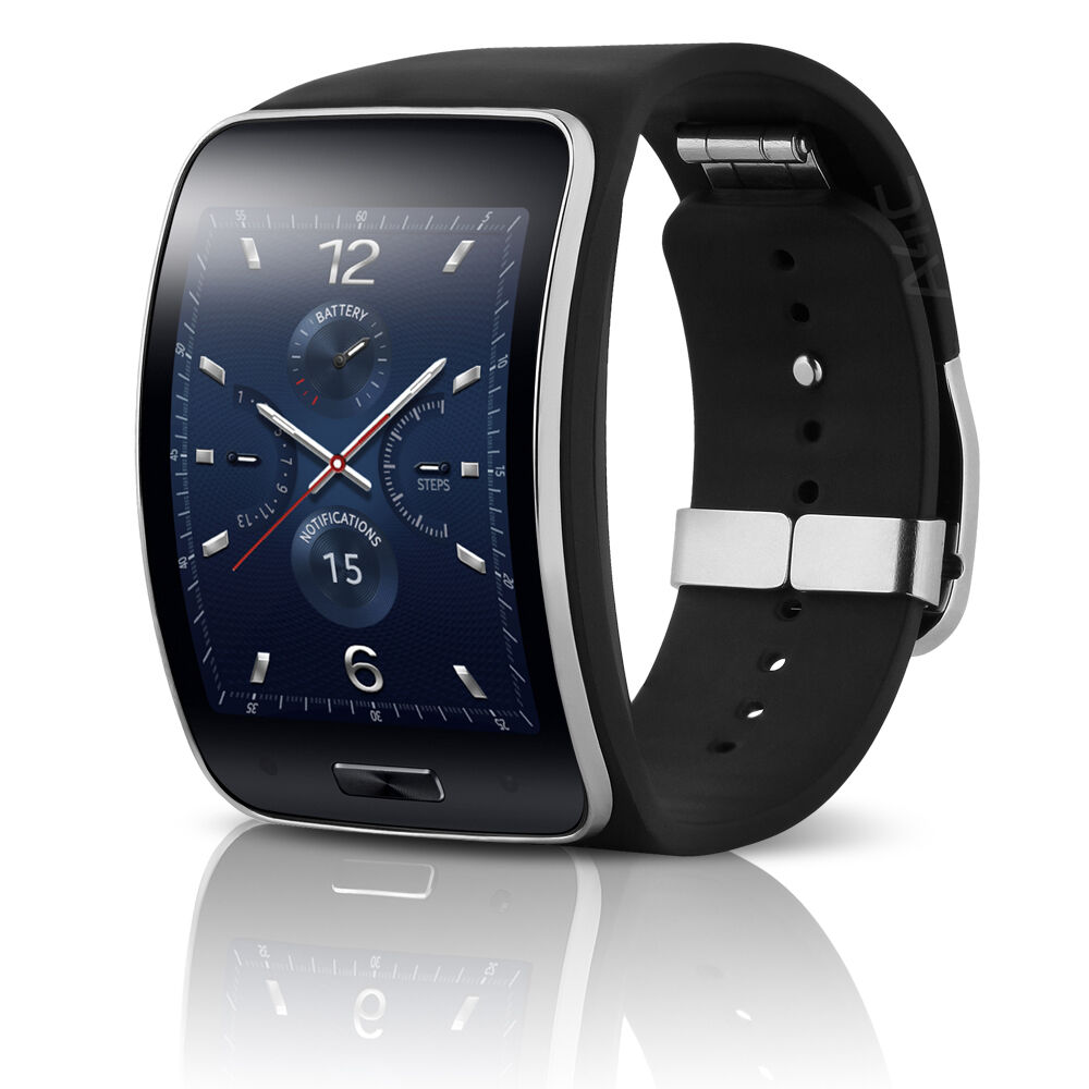 samsung gear s t mobile curved amoled smartwatch sm r750t black ebay. Black Bedroom Furniture Sets. Home Design Ideas