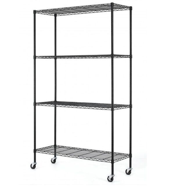 steel storage shelves new 4 tier adjustable steel wire metal shelving rack 48 x 26782