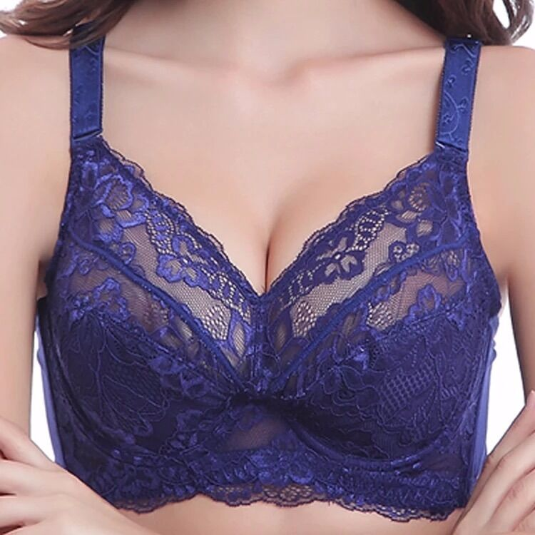 Women Underwire No Padded Ultra-thin Transparent Lace Bras ... - photo#31