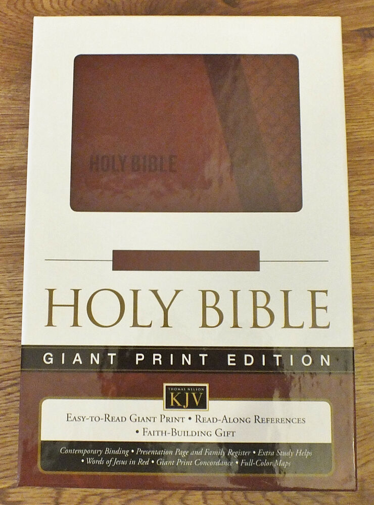HOLY BIBLE KJV LARGE PRINT - New Leathersoft Cover - KING ...