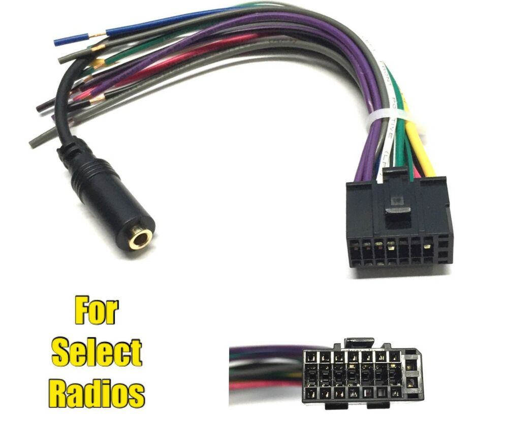 car stereo radio replacement wire harness for some dual 16 pin 3 5mm radio ebay