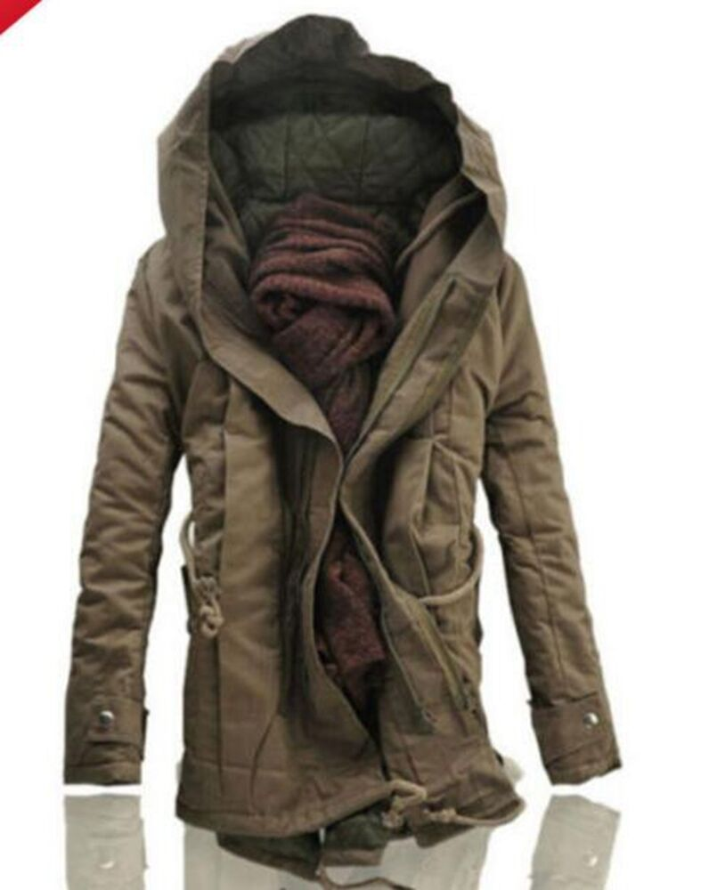 Men's Jacket Winter Stylish Hooded Canvas Cotton Warm