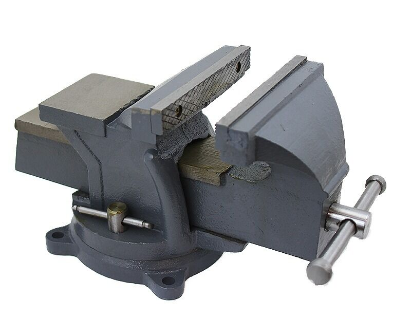 8 Heavy Duty Bench Vise Clamp Tabletop Swivel Locking Steel Base Anvil Locking Ebay