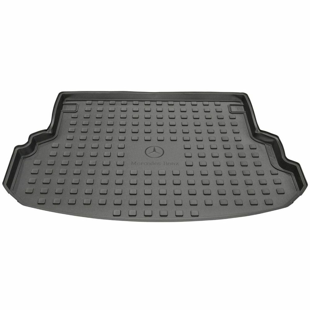 Oem molded black rubber all weather cargo mat tray liner for Mercedes benz mats