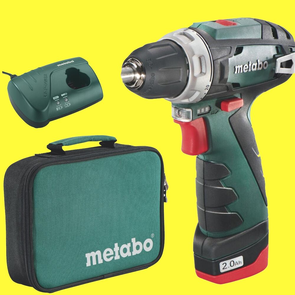 metabo akku schrauber powermaxx bs basic 10 8 1x2 0ah tasche ebay. Black Bedroom Furniture Sets. Home Design Ideas
