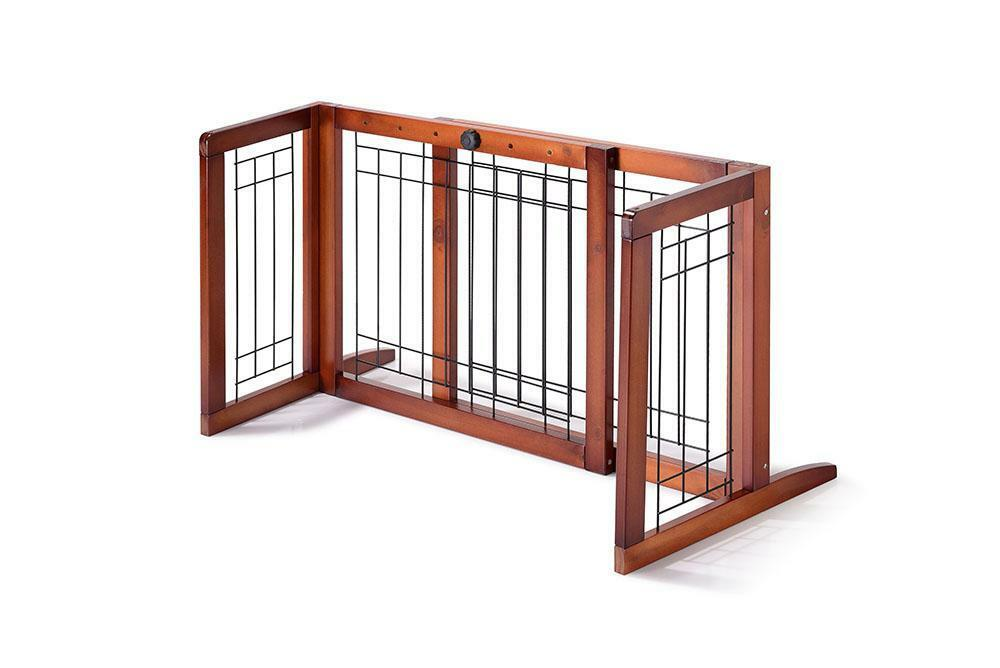 Adjustable Indoor Wood Construction Pet Fence Gate Free