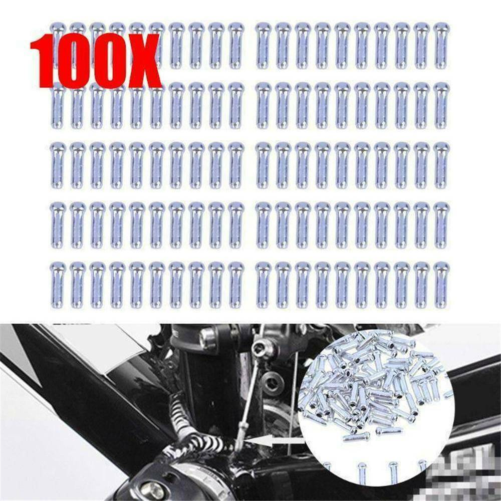 100 X Bicycle Bike Shifter Brake Gear Inner Cable Tips ...