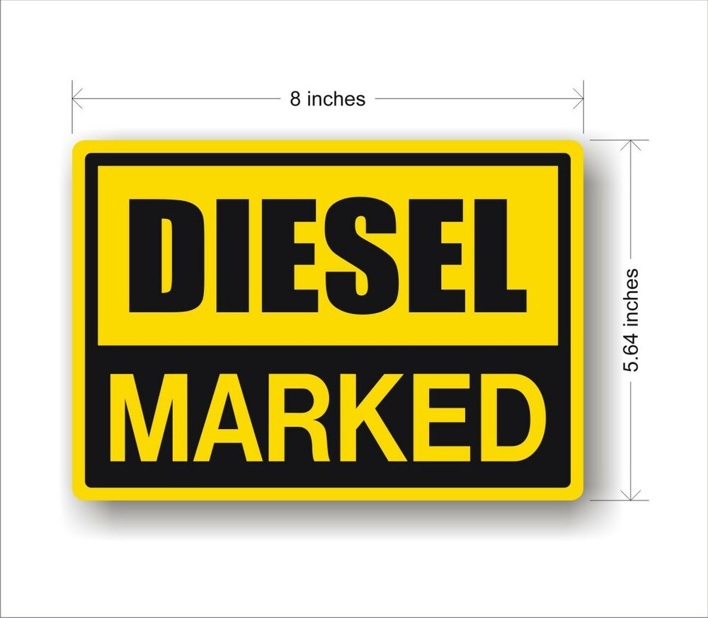 Details about industrial safety decal sticker marked diesel fuel tank label large 8