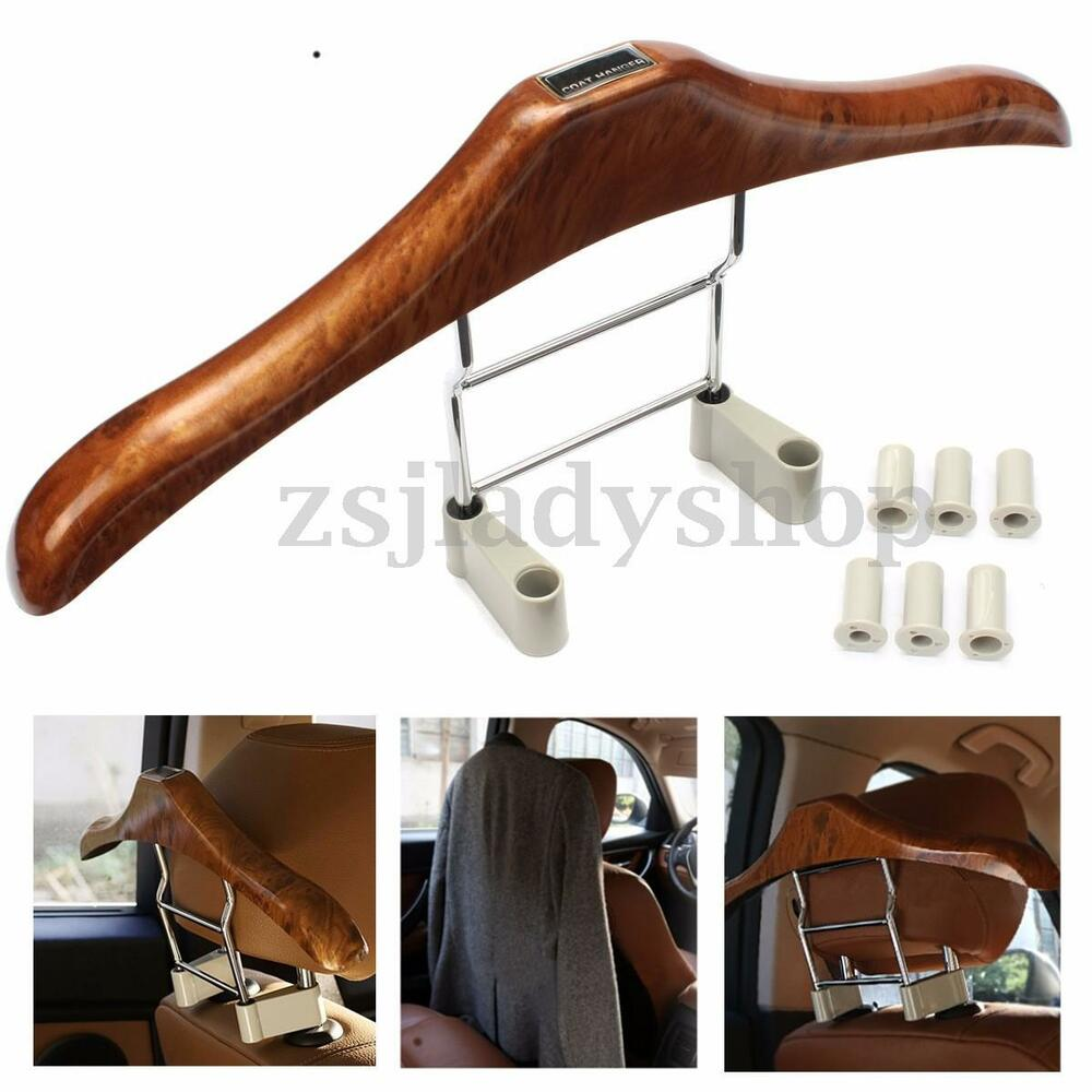 adjustable auto car seat headrest clothes coat jacket suit hanger plastic holder ebay. Black Bedroom Furniture Sets. Home Design Ideas