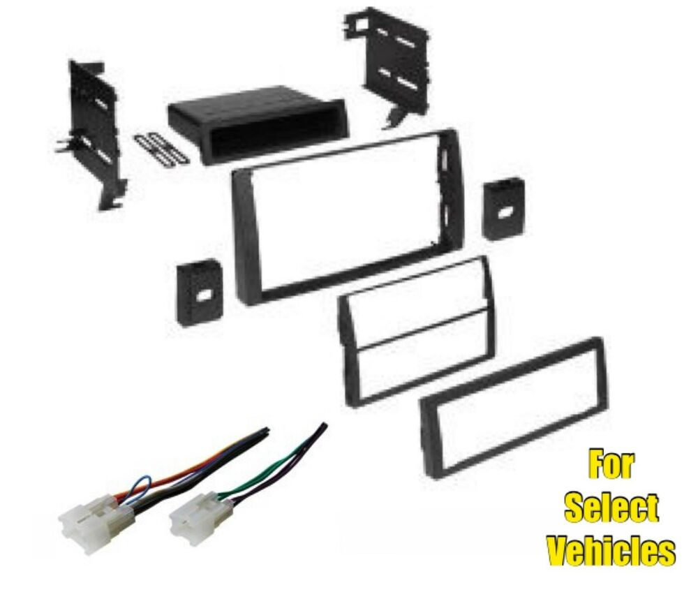 car stereo radio install mount dash trim kit combo for some 02 06 toyota camry ebay. Black Bedroom Furniture Sets. Home Design Ideas