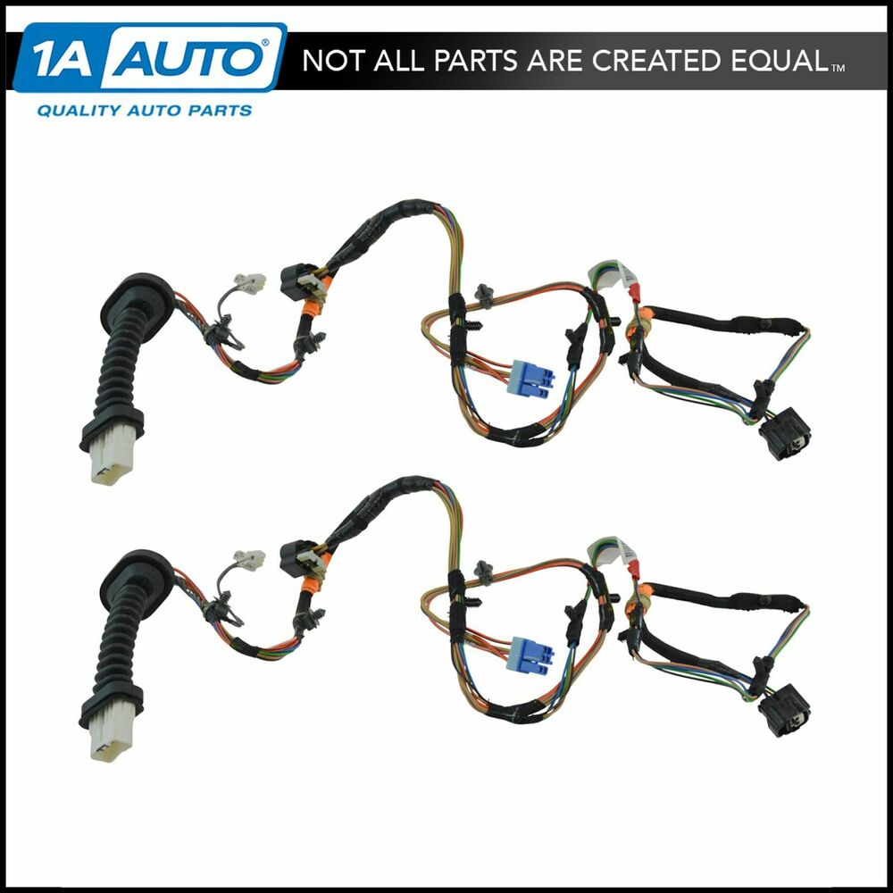 oem rear door wiring harness pair set of 2 for 06 09 dodge ram mega cab mopar ebay