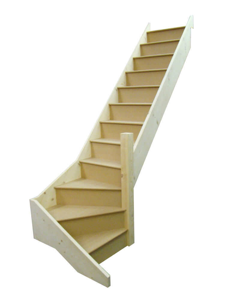 Staircase 3 winder any size 1 turn in middle 3 for Building winder stairs