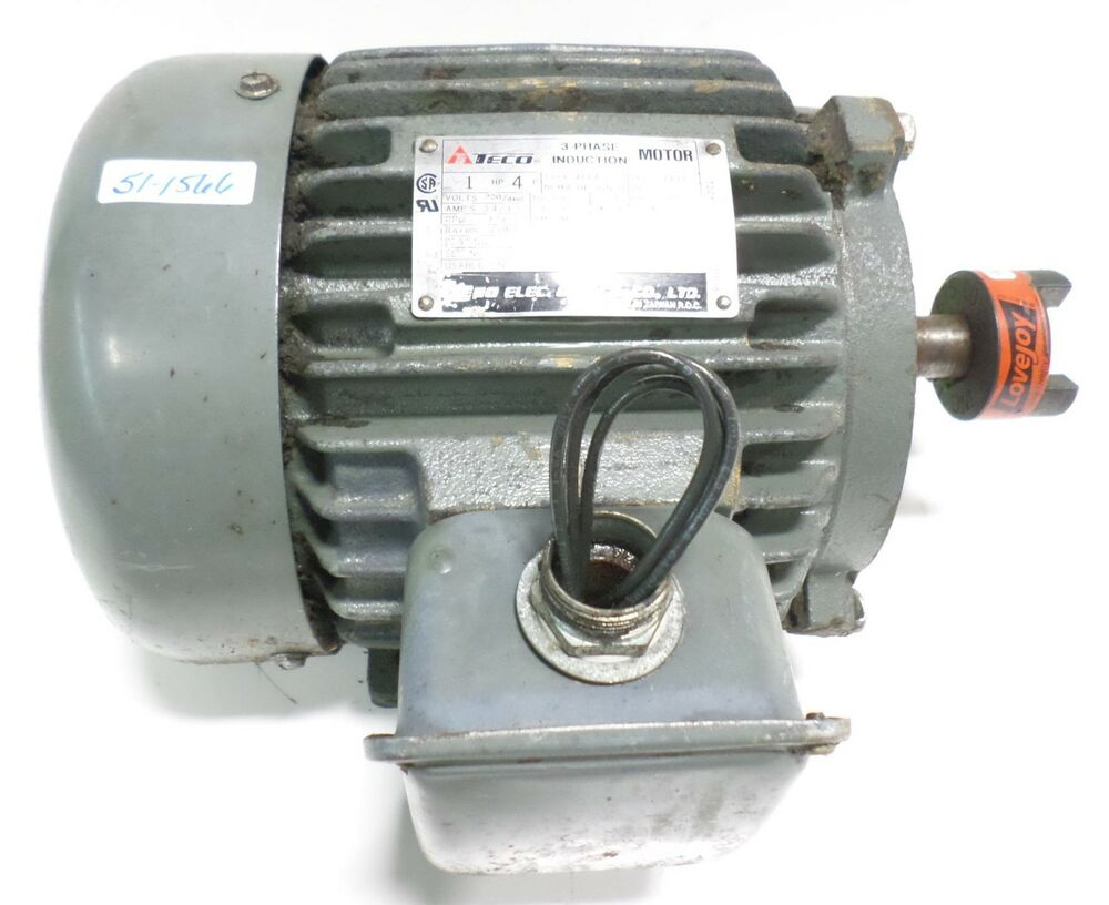 Teco 3 phase induction motor aeea tefc143t 3a143c4001 ebay for Three phase induction motor