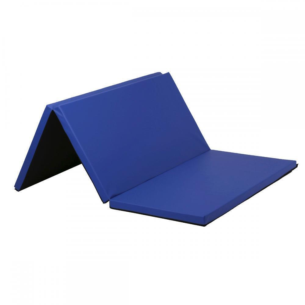 Black Blue Folding Gymnastics Gym Exercise Mats 4'x6