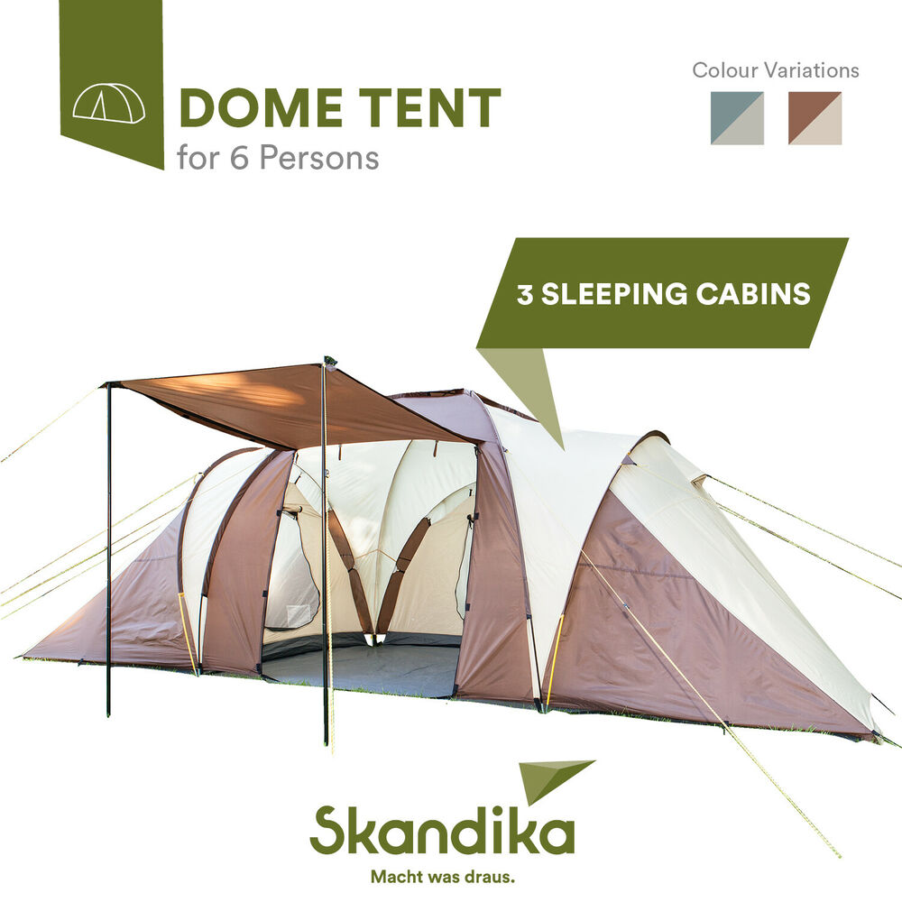 Skandika Daytona 6 Person Man Family Dome Tent Mosquito