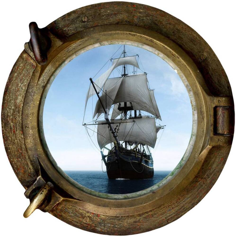 Ship Porthole Decal Removable Wall Sticker Home Decor Art