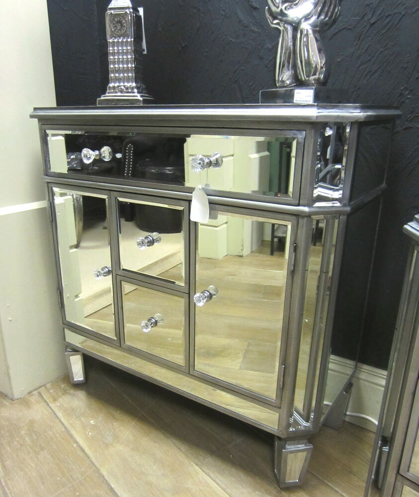 Silver mirrored venetian sideboard chest of drawers