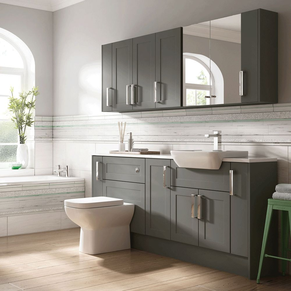 Grey Bathroom Furniture Uk: Moores Bathroom Fitted Furniture Charcoal Grey Shaker