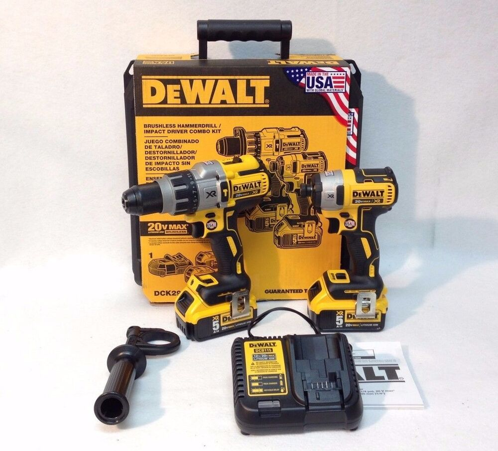Dewalt dck299p2 20v max xr cordless brushless li ion for Dewalt 20v brushless motor