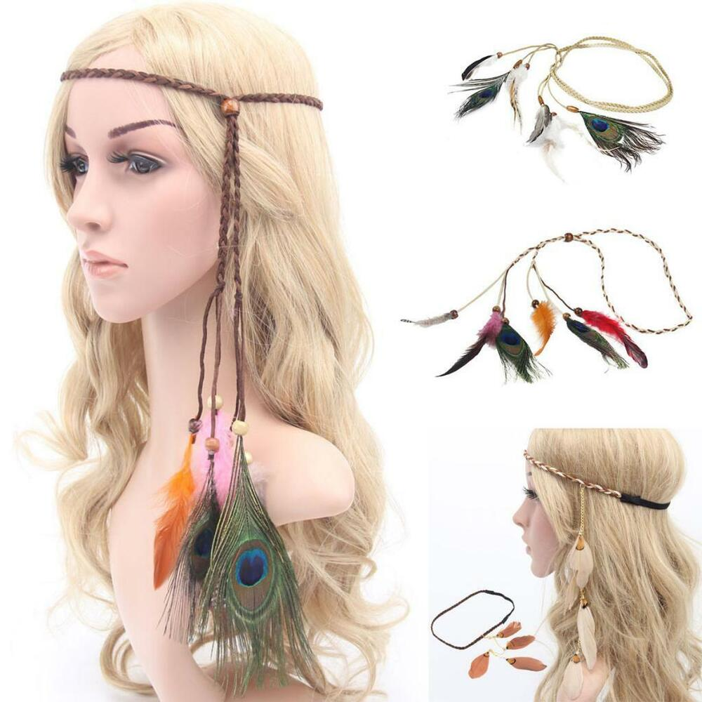 Details about Indian Head Dress Feather Headpiece Showgirl Headdress Boho  Hair Accessories bfa4a758b09