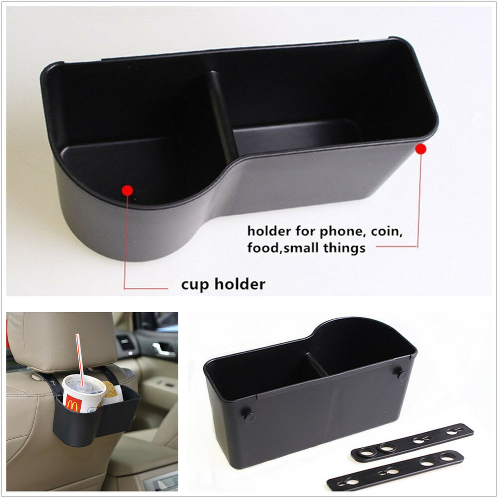 1 interior universal car seat back mount organize drink cup holder storage box ebay. Black Bedroom Furniture Sets. Home Design Ideas