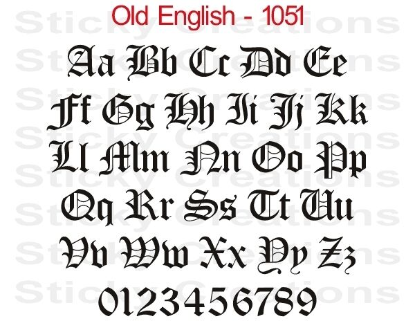 old english letter 1051 custom vinyl lettering windshield graphic decal 23838 | s l1000