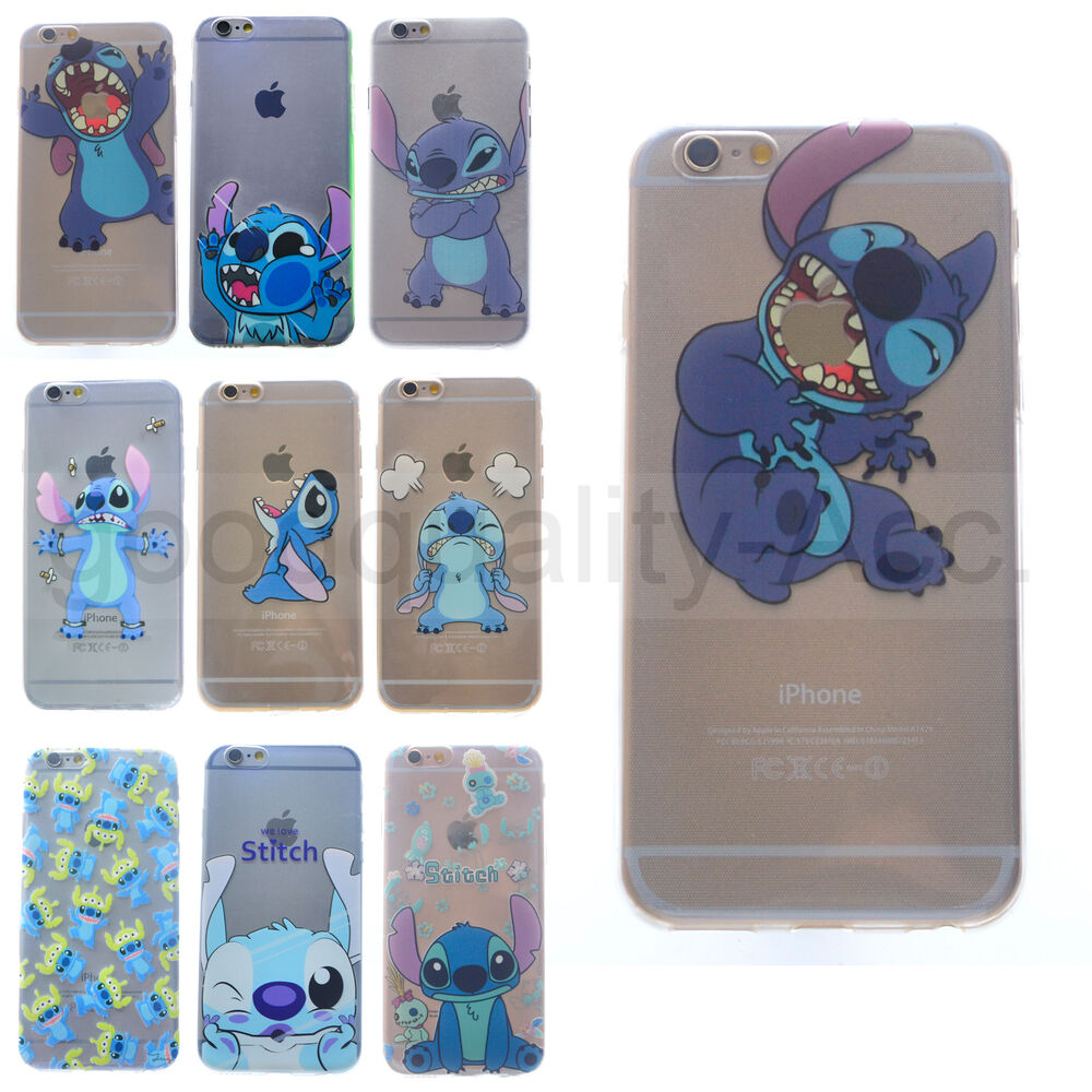 stitch phone case iphone 5s transparent tpu gel silicone soft stitch cover for 7987