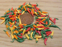 1:12 Scale 15 Mixed Chillies Dolls House Miniature Food Vegetable Accessory