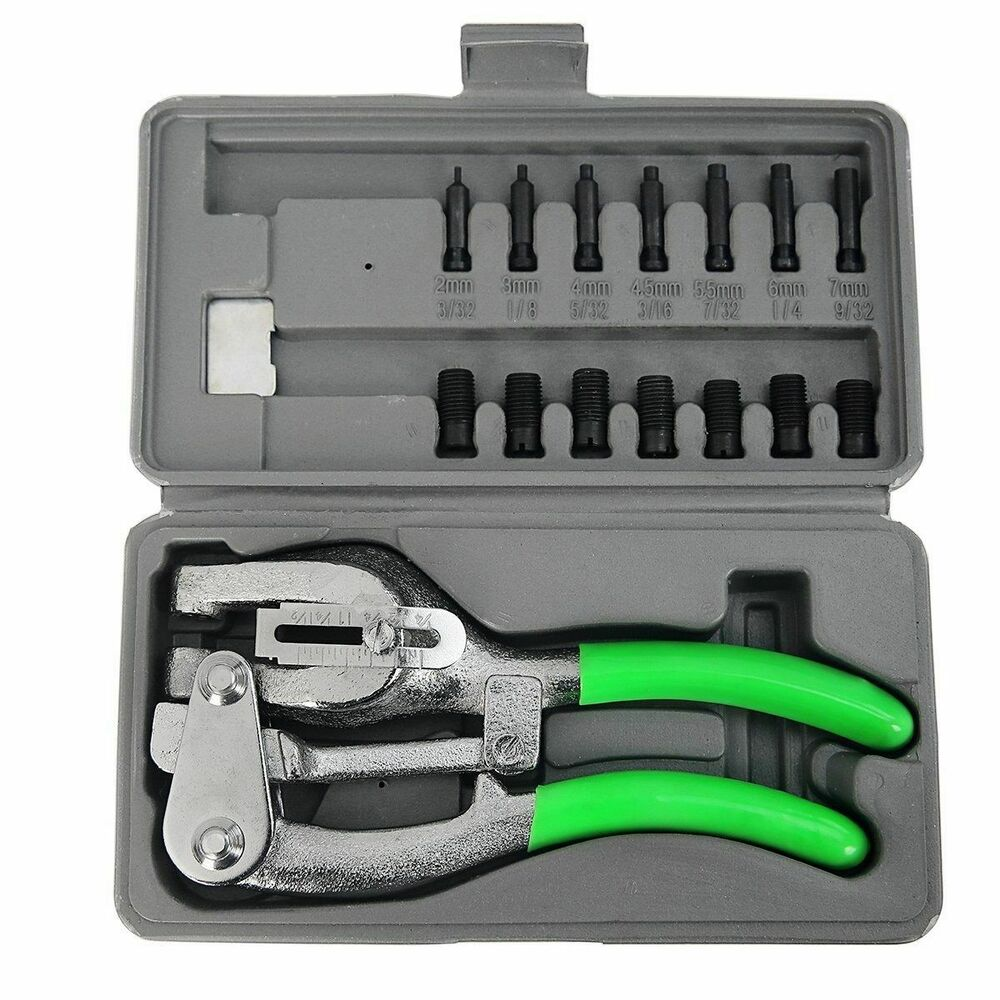 Hole Puncher History >> 1 Ton Power Punch Kit Aviation Sheet Metal Hole Puncher 7 Sizes Die Auto Body HD | eBay