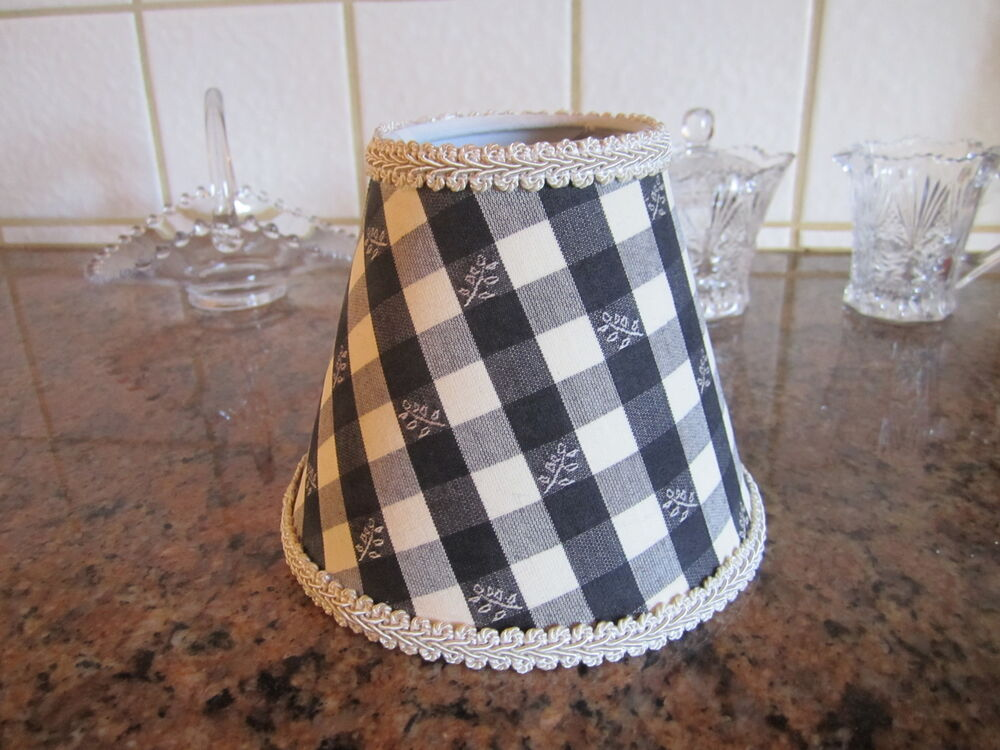 Pierre Deux Lamp Shade Brindille Blue Yellow Blk Check