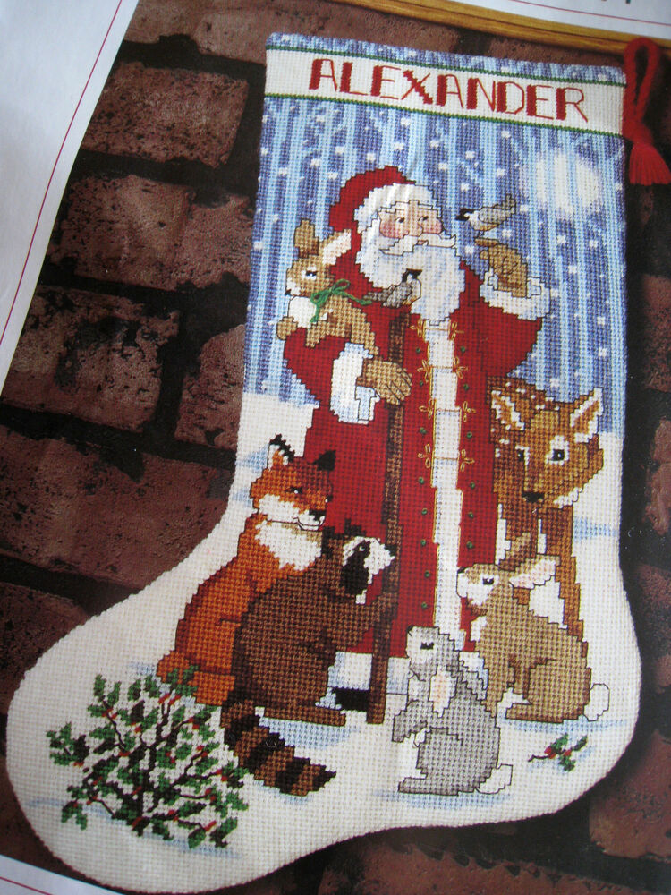 Decorating Ideas > Christmas Sunset Holiday Stocking Craft Kit,SANTA AND  ~ 074301_Christmas Decoration Craft Kits