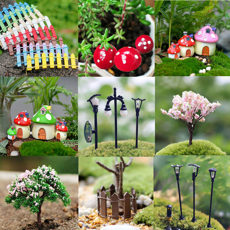 New figurine craft plant pot garden ornament miniature for Garden ornaments and accessories