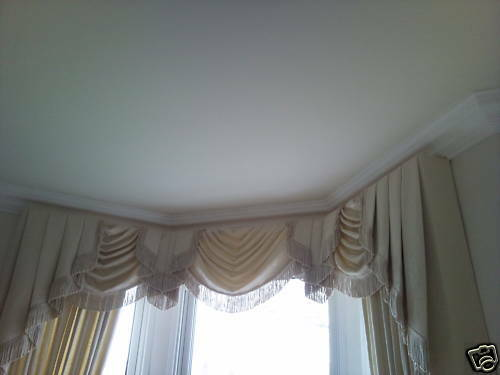 Victorian Bay Window Swags And Tails Amp Curtains Ebay