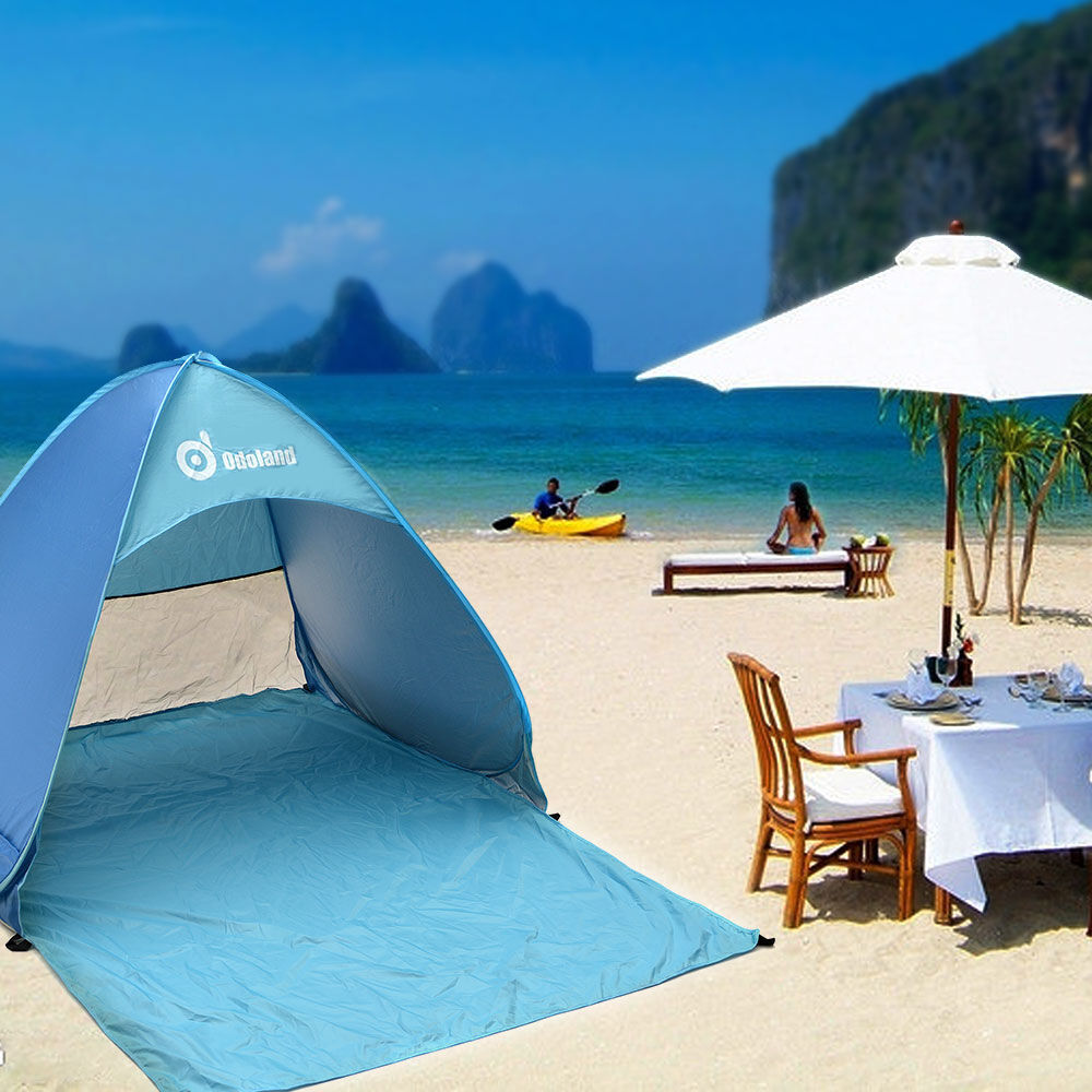 Beach Tents Cabanas : Sunshade base camp folding sun shelter outdoor quick