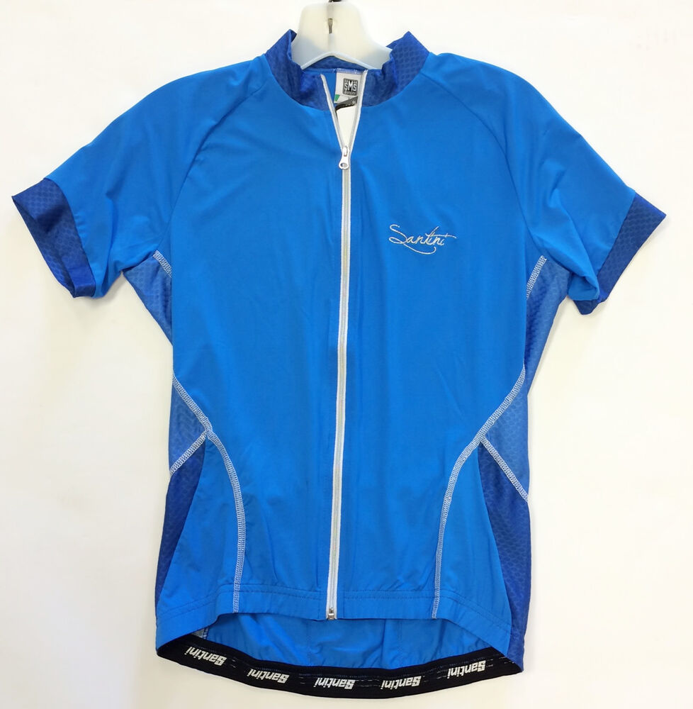 b45439861 Details about Women s Monella Short Sleeve Cycling Jersey - in Blue - Made  in Italy by Santini