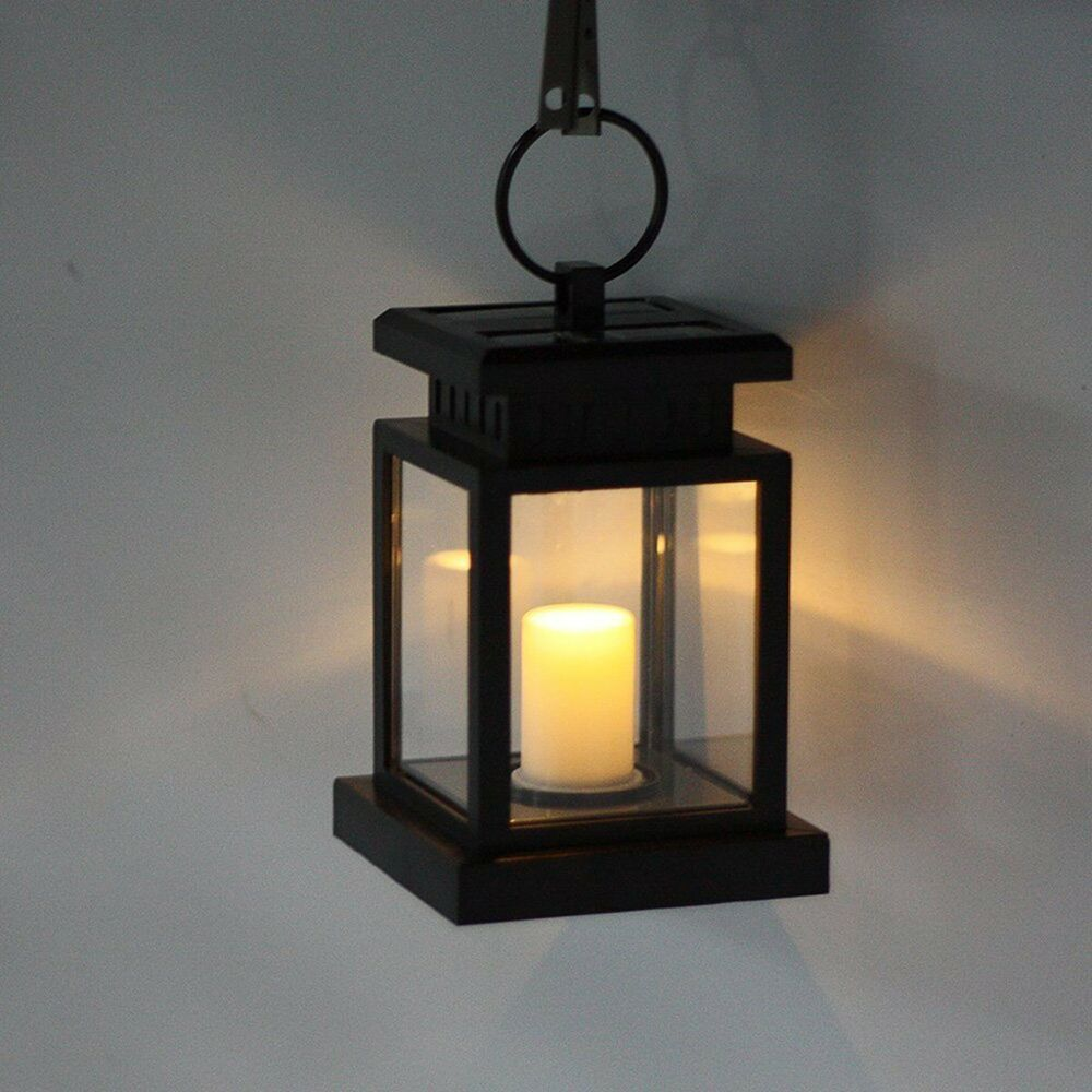 Solar Garden Light Lantern: Solar Power Candle Light Outdoor Garden Yard Umbrella Tree