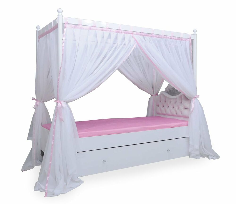 anastasia himmelbett kinderbett himmel m dchen prinzessin bett ebay. Black Bedroom Furniture Sets. Home Design Ideas