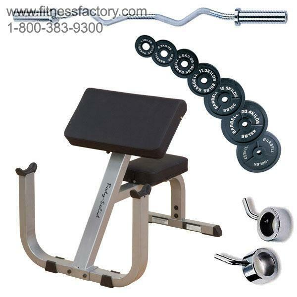 Body Solid Preacher Curl Bar 100lbs Weights Gpcb329p4