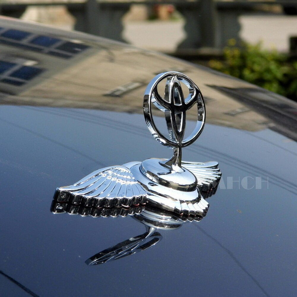 Universal Toyota 3d Hood Ornament Car Head Wing Bonnet