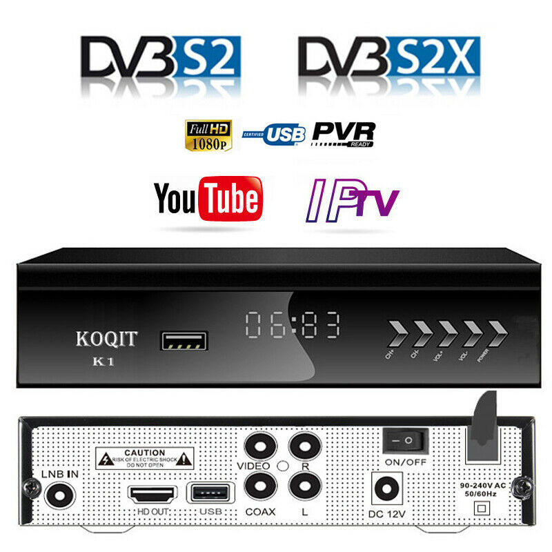 1080P DVB-S2 Digital Satellite Receiver Wifi IPTV Combo Blind Youtube TV BOX FTA | eBay