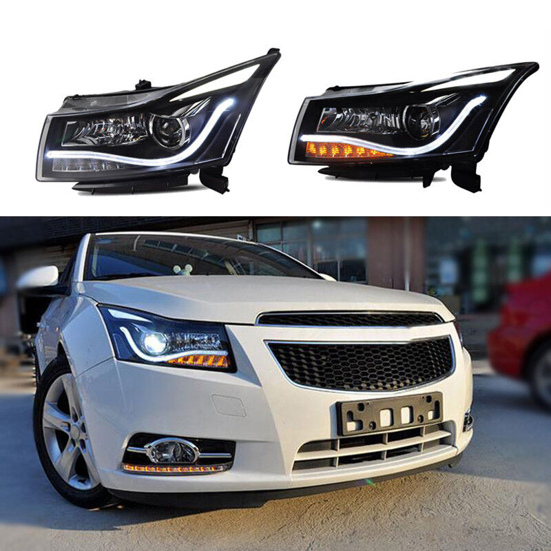 2011-2014 Chevy Cruze LED DRL Light Strip Halo Projector ...  |2014 Chevy Cruze Lights