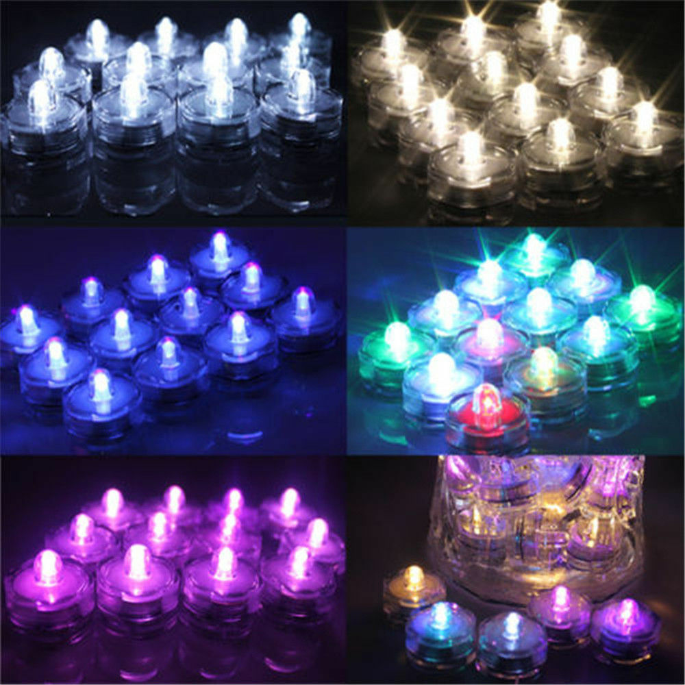 led lights decorations wedding submersible waterproof battery operated led tea lights 5444