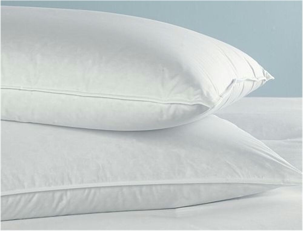 2 queen size goose down feather bedding pillows 32 oz fill 20x30 new ebay. Black Bedroom Furniture Sets. Home Design Ideas