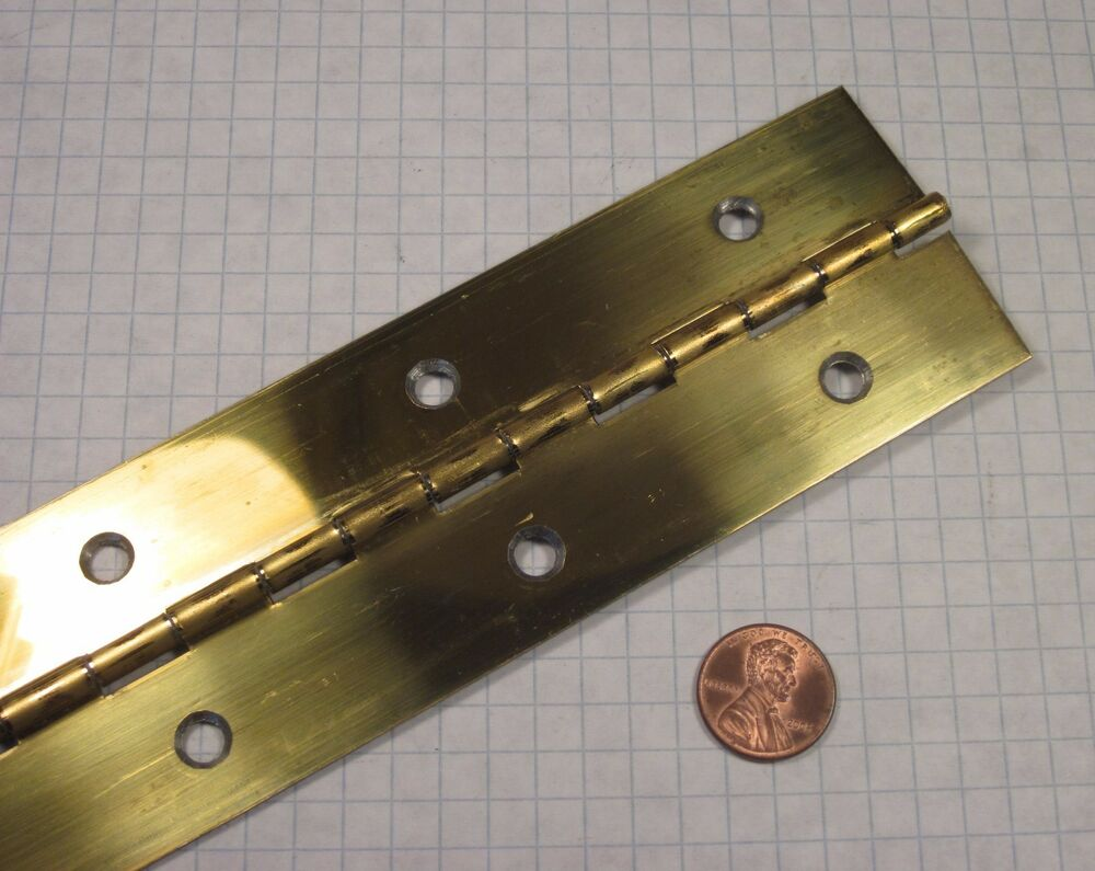 Continuous Piano Hinge Steel Brass Plated 2 Quot Width 96