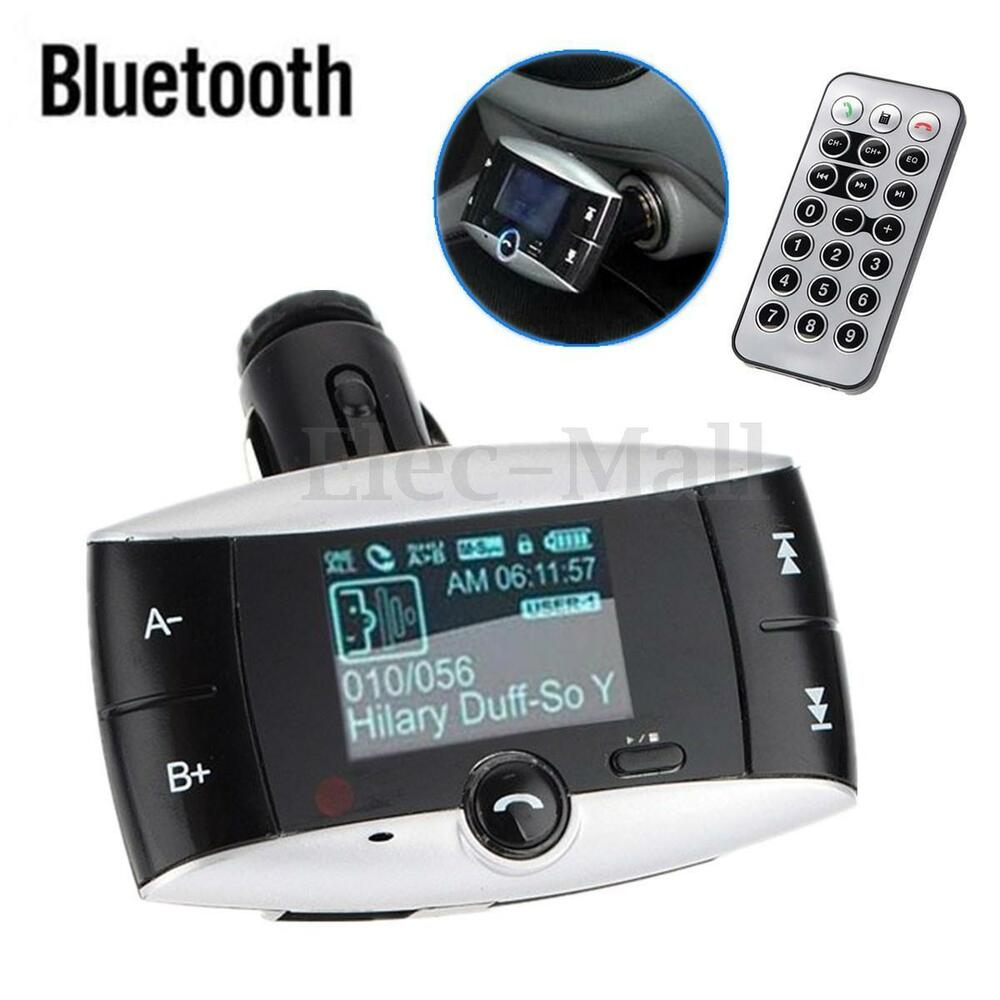 lcd car kit wireless bluetooth fm transmitter handsfree modulator mp3 sd mmc usb ebay. Black Bedroom Furniture Sets. Home Design Ideas