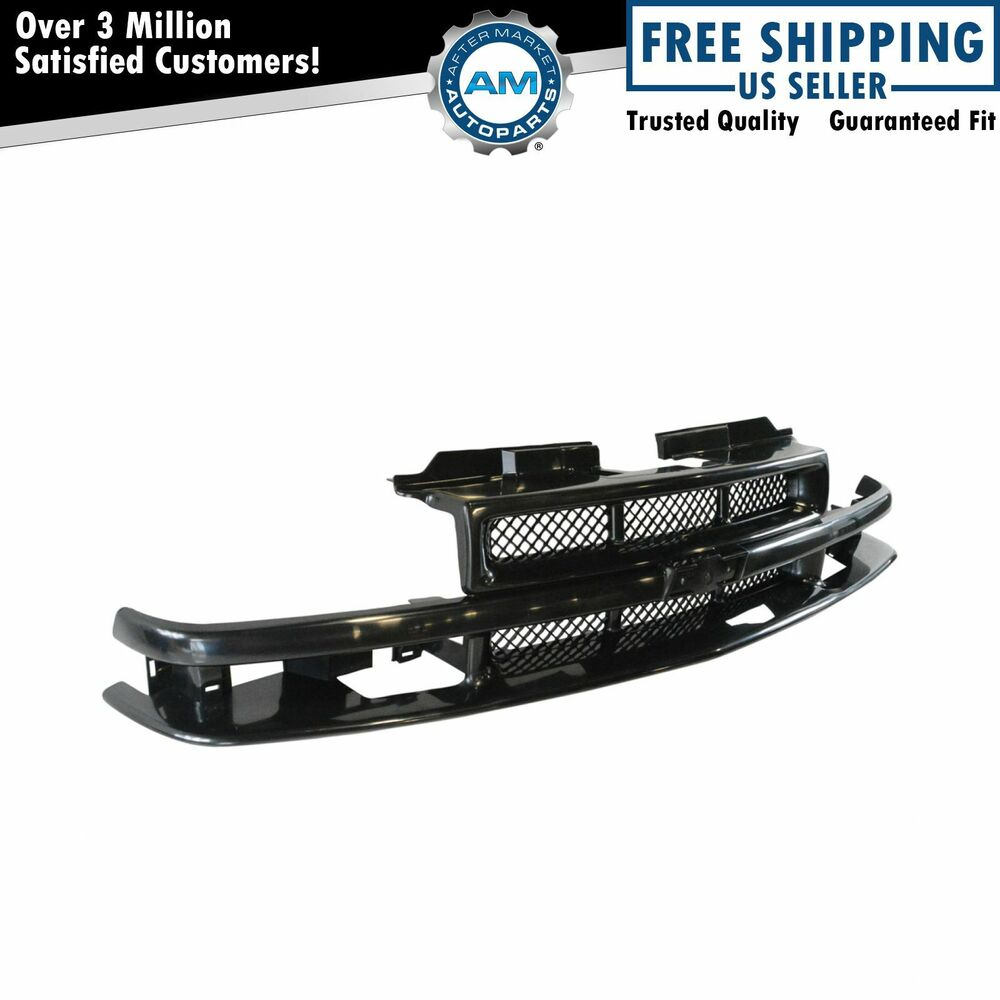 Grille Grill Black Front End For Chevy Blazer S10 Pickup